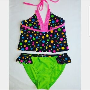 2CB Two Pieces Girls Bathing Suit